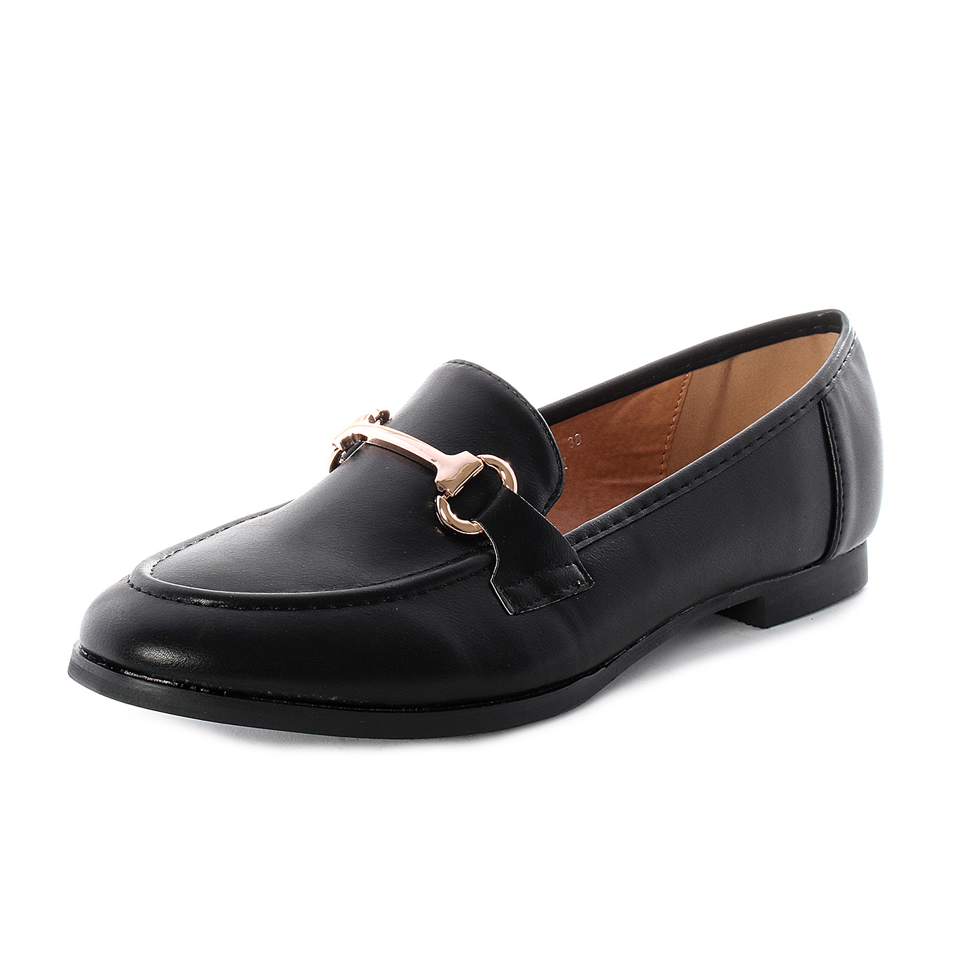 Sweet Shoes Mocassini da donna in eco pelle Nero